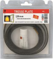 TRESSE PLATE 10X2mm + COLLE CONDITIONNE