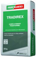 Corps d'enduit de façade traditionnel TRADIREX gris sac de 30kg